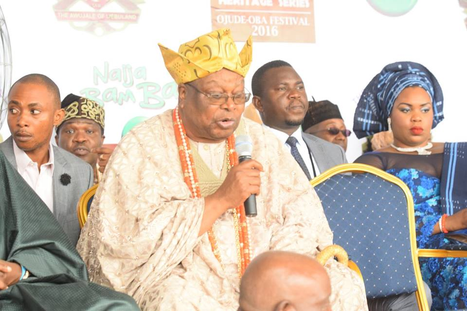 King of Ijebu Ode, Oba Sikiru Kayode Adetona redefining culture in his magnificent garb.