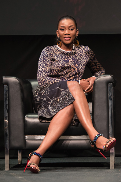 We're in love with Genevieve's print. (Image via Getty)