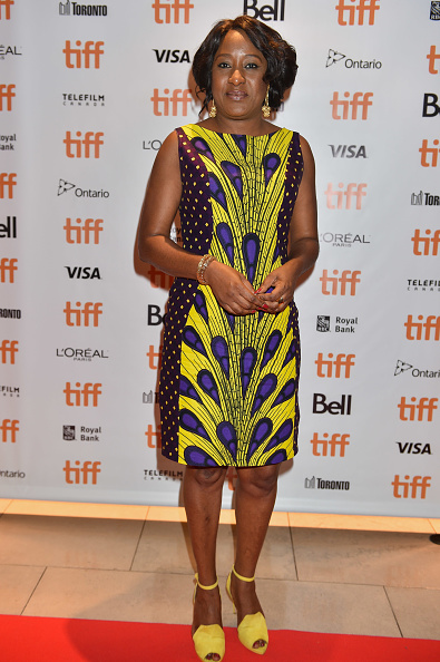 The exquisite Iretiola Doyle giving flawless African vibes with Ankara print dress. (Image via Getty)