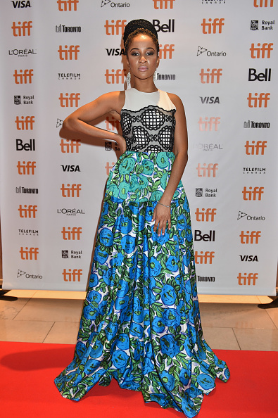 Adesua Etomi stuns in this Ankara prints maxi gown